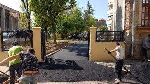 Asfaltare Curte in strada General Berthelot Bucuresti 3